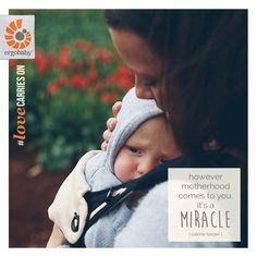 However motherhood comes to you, it's a miracle.  #adoption #adoptionawarenessmonth #motherhood #babywearing #ergobaby #lovecarrieson