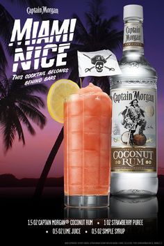 Be nice to summer and summer will be nice to you. Also, grab some Captain Morgan Coconut Rum and mix up this tasty recipe. #SunsOutRumsOut