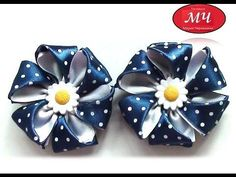 Мастер класс красивых бантиков. Канзаши. Цветы из лент. Ribbon bow - YouTube Diy Lace Ribbon Flowers, Fabric Flower Headbands, Kanzashi Flowers, Ribbon Art, Diy Ribbon, Ribbon Crafts, Flower Crafts, Fabric Flowers, Kanzashi Tutorial
