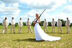 Don't mess with this bride and her groomsmen! Wedding photography by Simone Epiphany Photography in Dripping Springs Texas