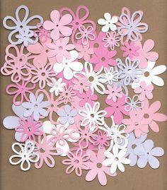 60 assorted Flowers Baby Girl Cricut Die Cuts. $1.25, via Etsy.