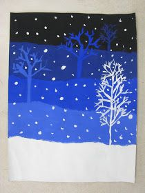 Miss Young's Art Room: 4th Grade Value Snowy Landscapes