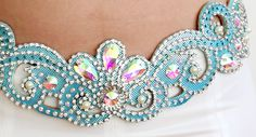 Blue & Silver Swirly Belt