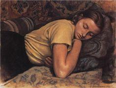 Sleeping Katya  - Zinaida Serebriakova