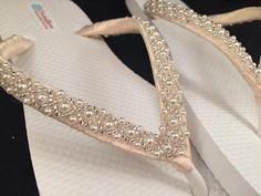 3d11274a659512 Emma Bridal Flip Flops Custom Flip Flops Dancing Shoes Beaded Bridal  Sandals Wedding Flip Flops Beach Wedding Bridal Shoes Beaded Shoes