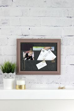 Hang a Framed Pocket Organizer