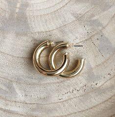 Biba Gold Hoop Earrings - twininas | Unique Handmade Jewellery & Accessories! Gold Hoop Earrings, Gold Hoops, Stud Earrings, Handmade Jewellery, Unique, Accessories, Jewelry, Handmade Jewelry, Jewlery