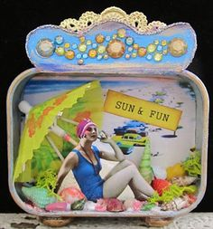 Sun & Fun....Seaside Assemblage  Design Team Project by Kim Smith