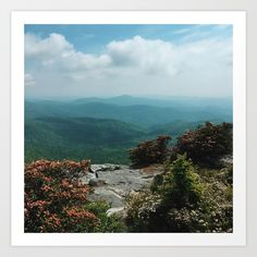 Buy Blue Ridge Mountains Art Print by kevinruss. Worldwide shipping available at Society6.com. Just one of millions of high quality products available.