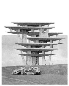 Luca Galofaro Collage - Brasilia tv tower by Lucio Costa in 1967. via @aotroplano