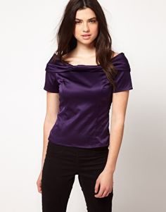 ASOS Fitted Top With Bardot Neckline