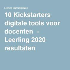 10 Kickstarters digitale tools voor docenten - Leerling 2020 resultaten
