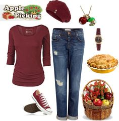 """Apple Picking! LOVE Fall!"" by masilly1 on Polyvore"