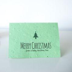 Reindeer Poo Christmas tree seeded cards. by TalkoftheTownPartyUK