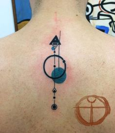 80 Geometry Tattoo Designs To Commune With Nature Dreieckiges Tattoos, Circle Tattoos, Triangle Tattoos, Music Tattoos, Arrow Tattoos, Cool Tattoos, Tatoos, Geometric Tattoo Meaning, Geometric Watercolor Tattoo