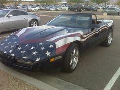 American Flag Corvette