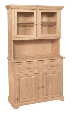 This Furniture in the Raw All Wood Buffet and Hutch 2 Doors is a traditional piece. It's a classic design that looks great in the kitchen and dining rooms. Real Wood Furniture, Unfinished Furniture, Repurposed Furniture, Diy Furniture, Furniture Cleaning, Cabinet Design, Door Design, Wood Buffet, Buffet With Hutch