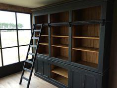 Engelse Bibliotheekkast van Massief Hout inndoors.nl