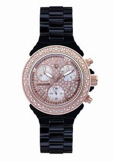 LANCASTER  Ladies Ceramic Diamond Dial Watch  $449.99