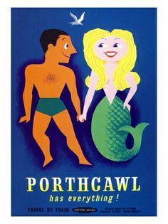Lander Porthcawl has everything poster Posters Uk, Railway Posters, Poster Prints, Art Prints, Sirens, Vintage Beach Posters, Tarot, British Travel, British Seaside