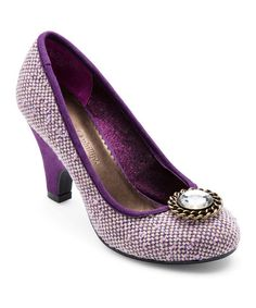 Look at this #zulilyfind! Purple Tweed Alex Pump & Snap Set by Lindsay Phillips #zulilyfinds