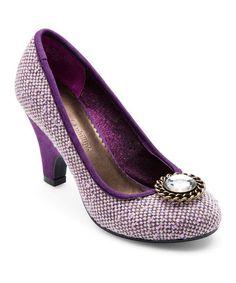 Loving this Purple Tweed Alex Pump & Snap Set on #zulily! #zulilyfinds
