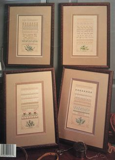Counted cross stitch charts Herb Samplers by Linda Culp