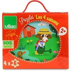 4 puzzels - de 4 seizoenen - Vilac