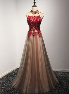 Evening dresses, prom dresses, open back prom dress, long prom dresses, tul Sparkly Prom Dresses, Open Back Prom Dresses, Prom Dresses For Teens, Beaded Prom Dress, Cute Dresses, Dress Long, Long Formal Gowns, Formal Dresses, Long Dresses