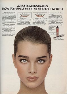 Aziza by Prince Matchabelli Natural Lustre Lip Gloss with Brooke Shields at age 14 (1979)