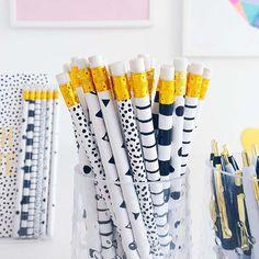 Pennen en Potloden Zwart Wit