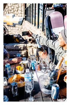 'But first let me take a selfie' //Take a break with sparkling wine //Head Trip to Argentina //ridehead //head snowboards
