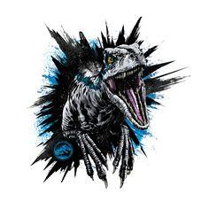 Anthony Petrie - Jurassic World: Fallen Kingdom Style Guide 2018 Jurassic World Poster, Jurassic Park Trilogy, Blue Jurassic World, Jurassic World Fallen Kingdom, Jurassic Park Tattoo, Jurrassic Park, Park Art, Dinosaur Tattoos, Blue Tattoo