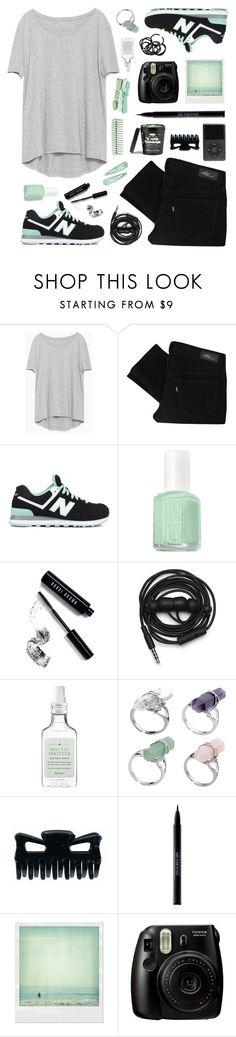 """Sea foam"" by felytery ❤ liked on Polyvore featuring Zara, Levi's, New Balance, Essie, Bobbi Brown Cosmetics, Urbanears, Drybar, Urban Decay, Polaroid and H&M"