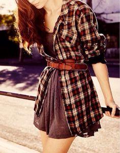 Flannel as a cardigan