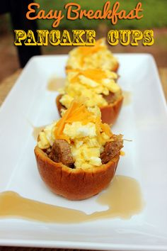 Easy Breakfast Pancake Cups #Recipe