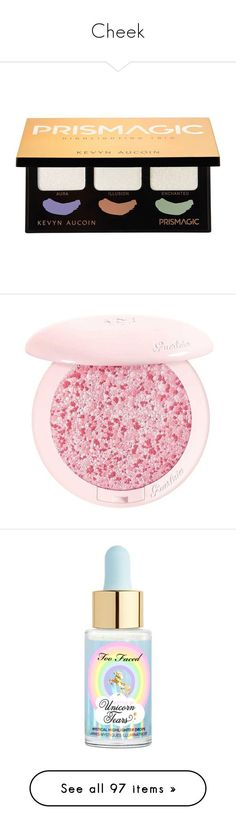 """""""Cheek"""" by loreensteinbach ❤ liked on Polyvore featuring beauty products, makeup, face makeup, kevyn aucoin, palette makeup, kevyn aucoin makeup, highlight face makeup, kevyn aucoin cosmetics, cheek makeup and blush"""