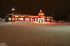 Kroll's Diner in Fargo, ND   Recommend the Knoephla Soup or Fleischkuechle for a good taste of local (German) food!