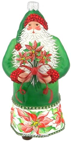 The Giving Season (Poinsettia/Green) Patricia Breen Designs (Flowers, Green, Pearl/white, Poinsettia, Red, Santa)