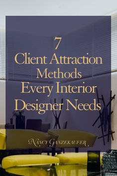 7 Client Attraction Methods Every Interior Designer Needs - Nancy Ganzekaufer Interior design career tips for client attraction in your design business. Interior Design Business Plan, Interior Design Courses Online, Interior Design Career, Modern Interior Design, Business Design, Interior And Exterior, Interior Designing, Diy Interior, Luxury Interior