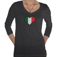 Plus Size Italian Heart T Shirt