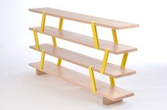 olivier desrochers: méo shelf.   brackets come in lots of other bright colors.  LOVE this!
