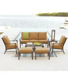 Plantation Outdoor Patio Furniture Seating Sets U0026 Pieces   Patio Seating    Furniture   Macyu0027s