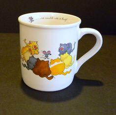 "Vntg Hallmark Rim Shots Coffee Mug  8 oz. Cartoon Cat & Mouse ""Could use a hug"" #Hallmark #Mug"