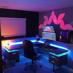 Computer Gaming Room, Gaming Pcs, Gaming Room Setup, Pc Setup, Best Gaming Setup, Gamer Setup, Gaming Chair, Deco Studio, Studio Room