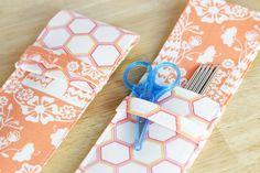Knitting Needle (or Pencil) Case DIY at Hands Occupied #sweetashoney #sahblogtour