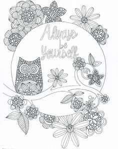Print Color Always Be Yourself Coloring Page