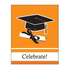 School Colors Sunkissed Orange Invitation Bulk/Case of 75