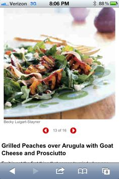 Salads on Pinterest | Vinaigrette, Grilled Peach Salad and Summer Corn ...