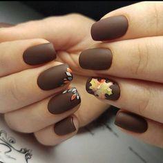 fall season maple nail art polish